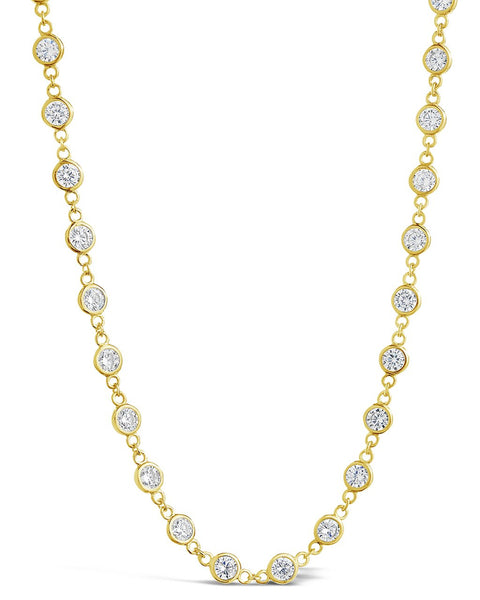 CZ by the Yard Long Wrap Necklace - Sterling Forever