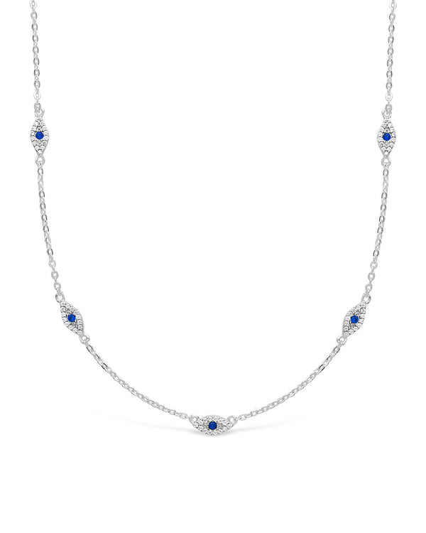 Evil Eye CZ Necklace - Sterling Forever