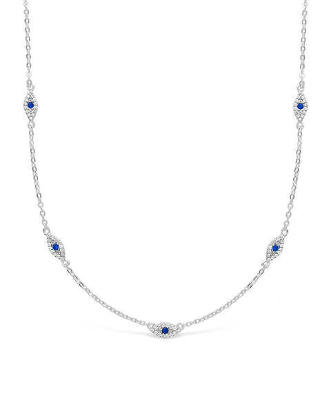 Evil Eye CZ Necklace Necklace Sterling Forever Silver