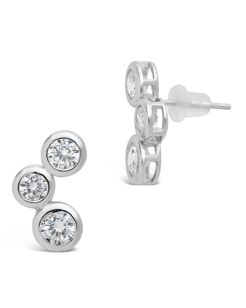 Sterling Silver CZ Bubbles Stud Earrings - Sterling Forever