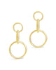 14K Gold Vermeil Linked Circle Drop Earrings - Sterling Forever