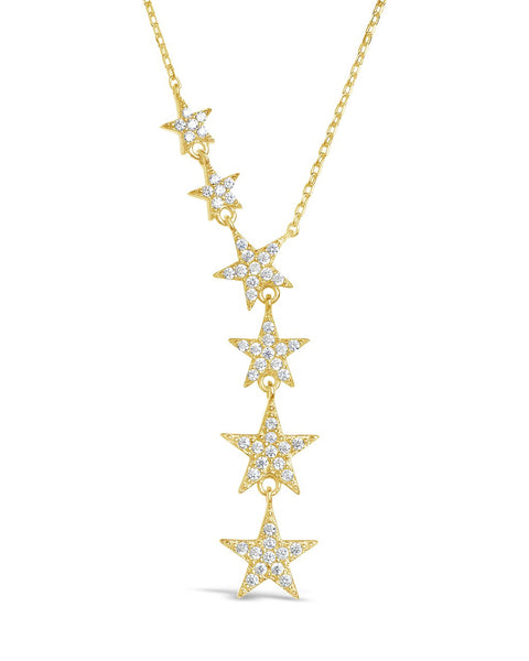 CZ Star Y Necklace Necklace Sterling Forever Gold