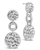 Textured Triple Circle Drop Earrings - Sterling Forever