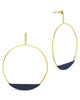 Circle Stud Hoop Earrings