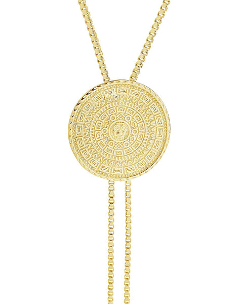 Medallion Bolo Necklace Necklace Sterling Forever Gold