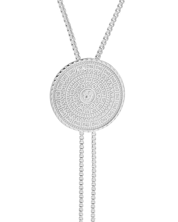 Medallion Bolo Necklace - Sterling Forever
