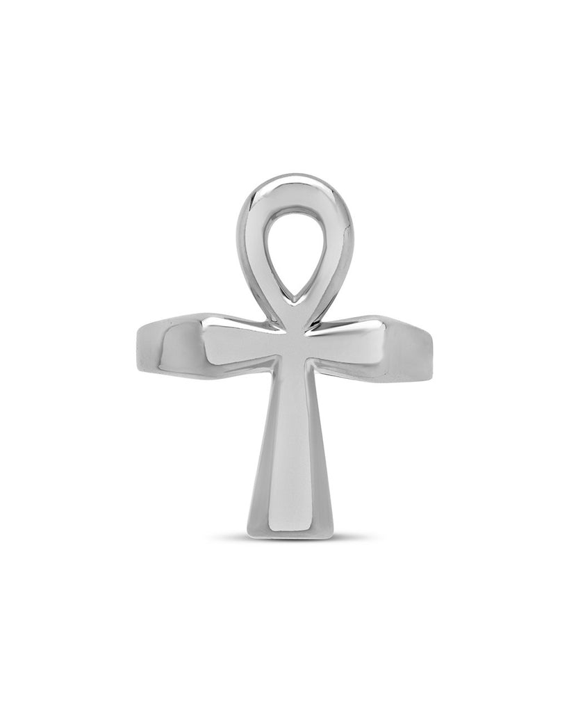 Ankh Statement Ring - Sterling Forever
