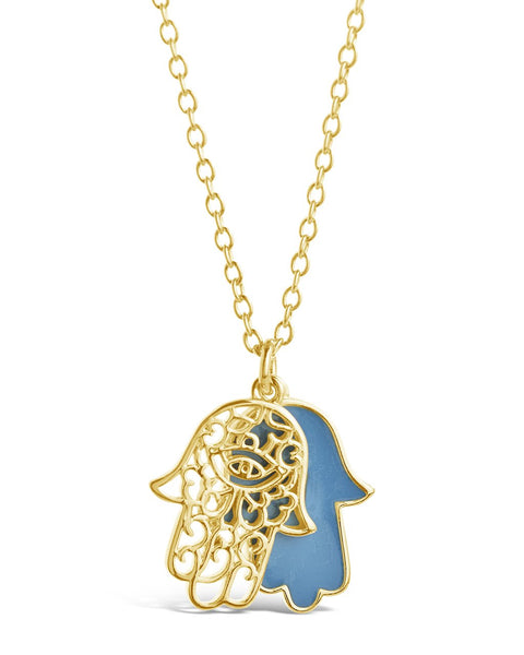 Window Hamsa Pendant Necklace
