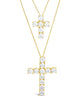 CZ Cross Pendant Necklace Set