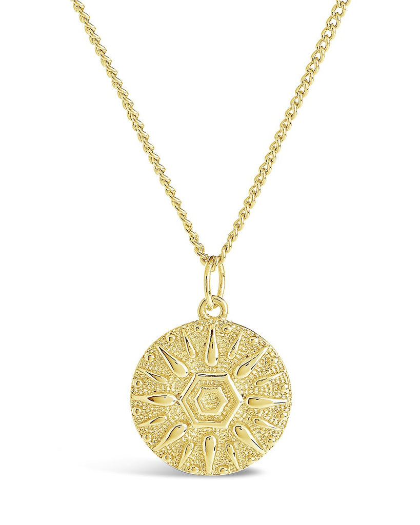 Sun Disk Pendant Necklace - Sterling Forever