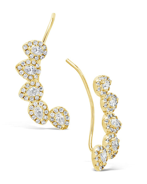 Pear-Cut CZ Ear Crawlers Earring Sterling Forever