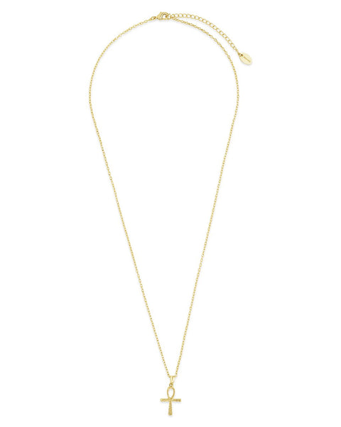 14K Gold Plated Ankh Symbol Pendant Necklace