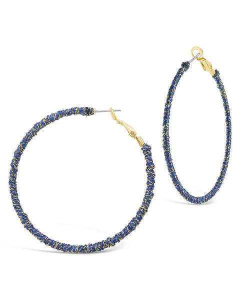 Threaded Hoop Earrings - Sterling Forever