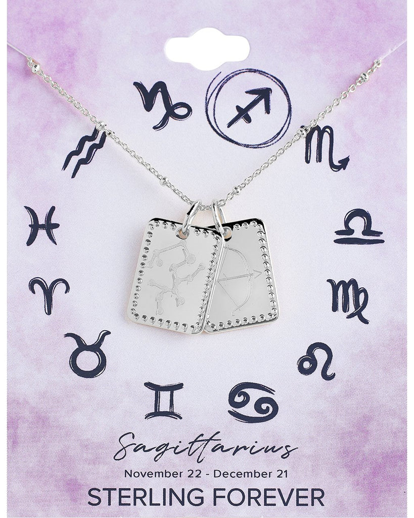 Zodiac Tag Necklace - Sterling Forever