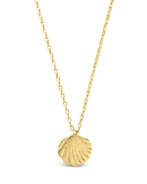 Sterling Silver Shell Pendant Necklace Necklace Sterling Forever Gold