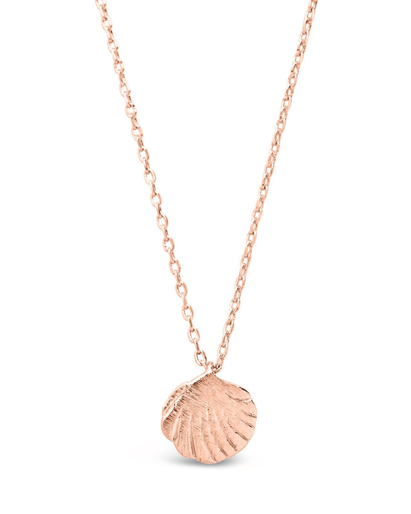 Sterling Silver Shell Pendant Necklace - Sterling Forever