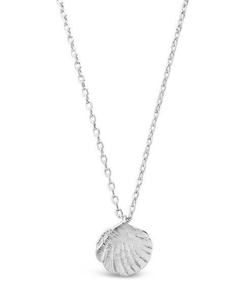 Sterling Silver Shell Pendant Necklace Necklace Sterling Forever Silver