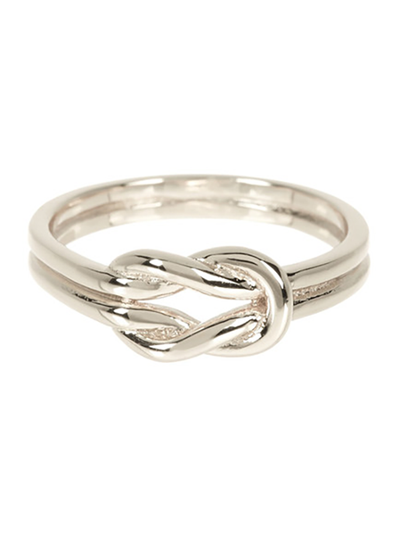 Double Love Knot Ring in Sterling Silver
