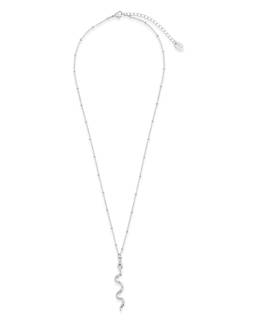 Polished Snake Pendant Necklace - Sterling Forever