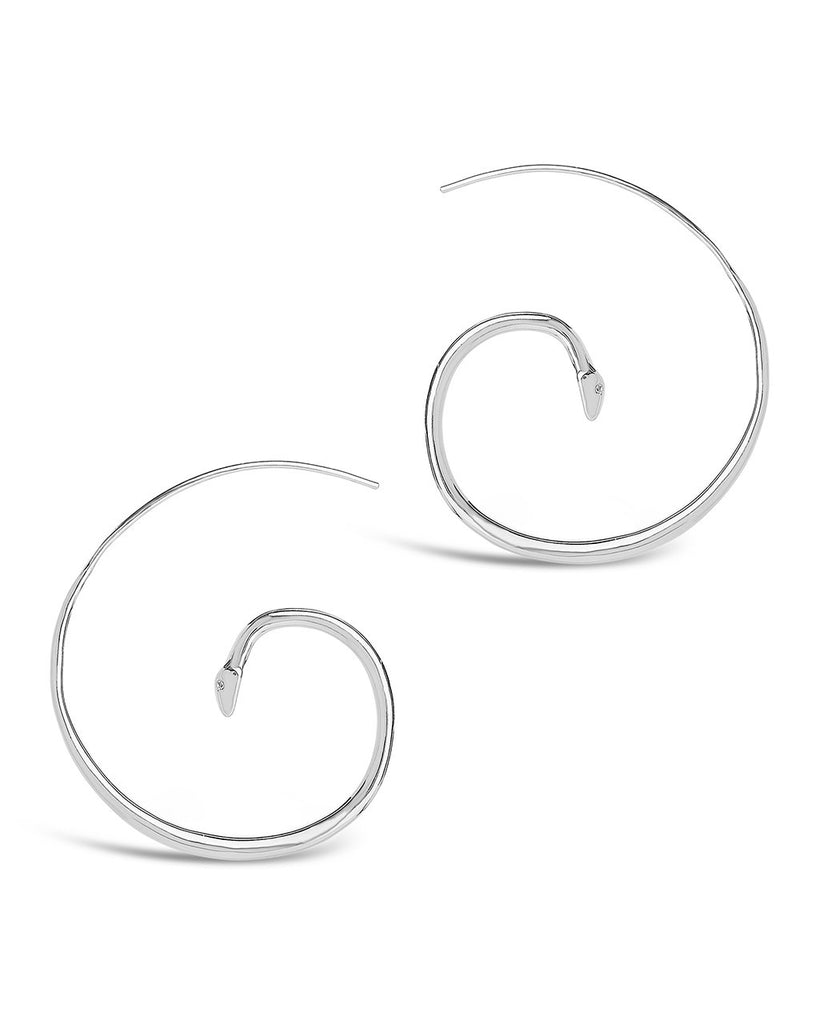 Curled Snake Threaders - Sterling Forever