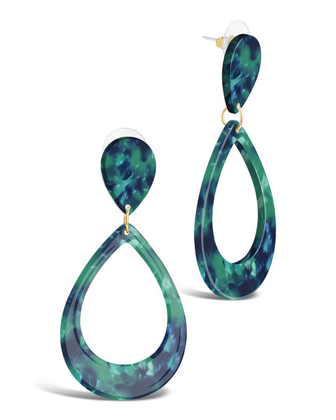 Resin Teardrop Earrings Earring Sterling Forever