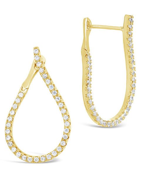 CZ Studded Drop Earrings Earring Sterling Forever