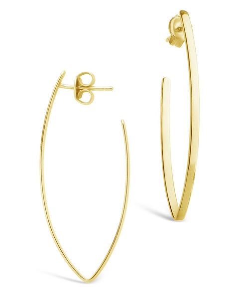 Gold V Drop Earrings