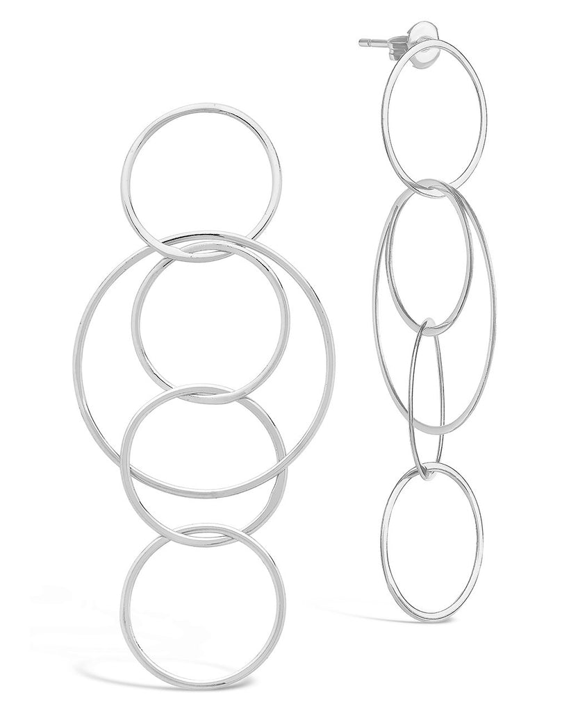 Linked Hoop Earrings - Sterling Forever