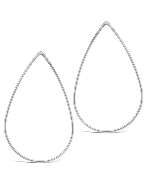 Teardrop Stud Earrings - Sterling Forever
