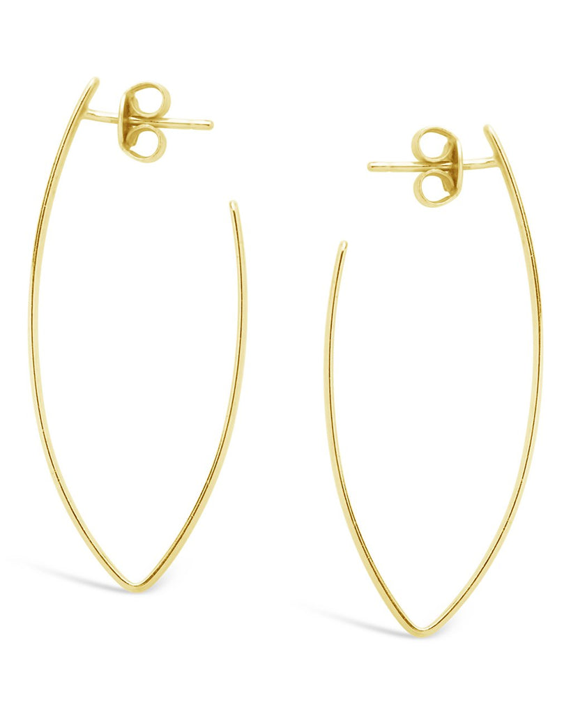 V Drop Earrings - Sterling Forever