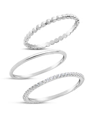Sterling Silver Dainty 3pc Stacking Set