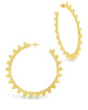Hammered Flare Hoops