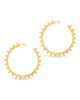 Hammered Flare Hoops - Sterling Forever