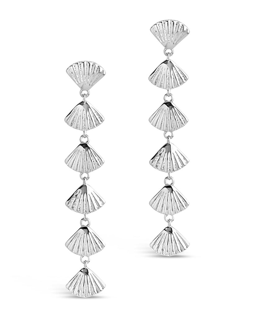 Scallop Shell Drop Earrings - Sterling Forever