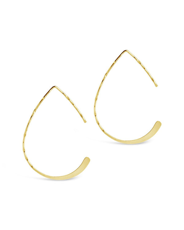 Sterling Silver Teardrop Threader Earrings - Sterling Forever