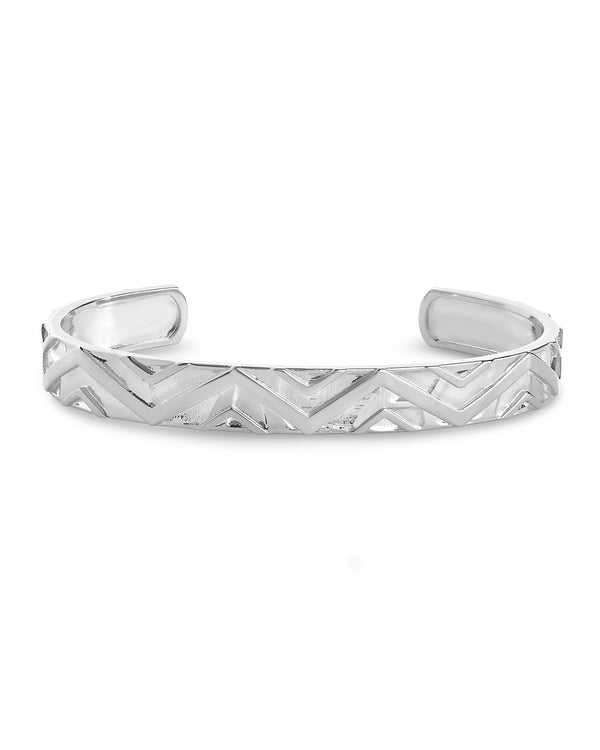 Polished Chevron Cuff - Sterling Forever