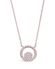 Sterling Silver CZ Circle Pendant Necklace - Sterling Forever