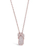 Sterling Silver CZ Sandal Charm Necklace - Sterling Forever