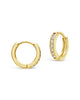 Sterling Silver CZ Micro Hoop Earrings Earring Sterling Forever Gold
