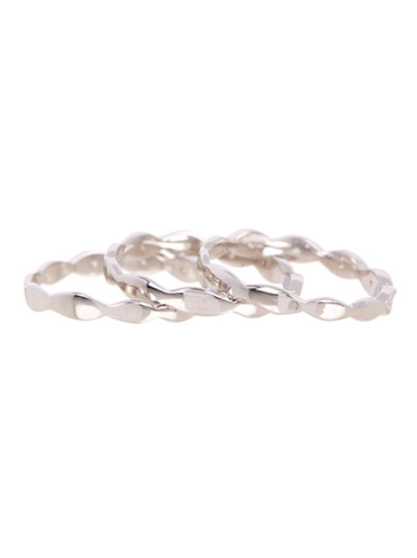 Swing Three Row Eternity Band Ring Sterling Silver - Sterling Forever