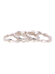 Swing Three Row Eternity Band Ring Sterling Silver
