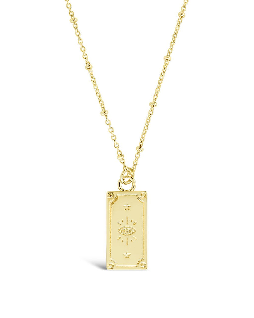 Sun & Moon Tarot Card Necklace - Sterling Forever