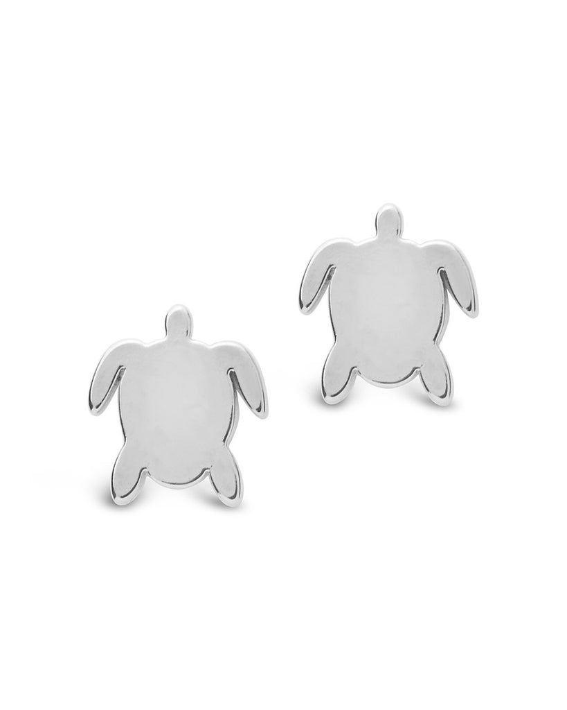 Sterling Silver Turtle Studs - Sterling Forever