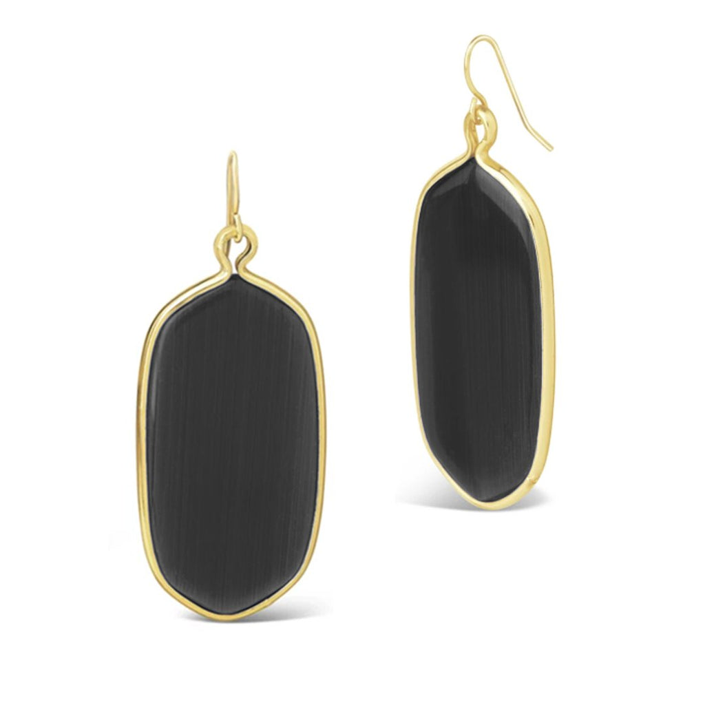 Cobalt Stone Dangle Earrings Earring Sterling Forever Black Stone