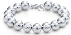 10mm Sterling Silver Bead Bracelet