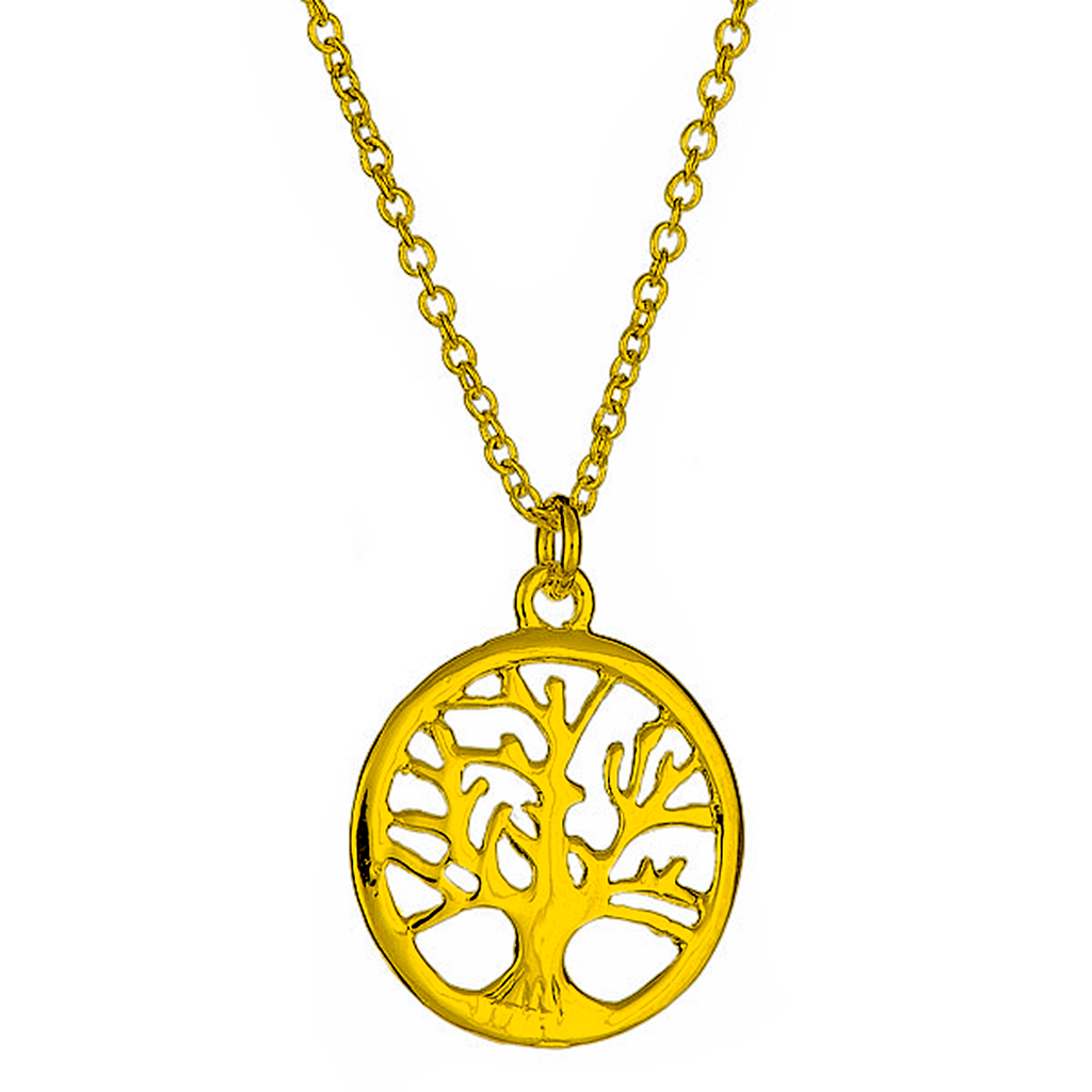 Gold Tone Tree of Life Pendant