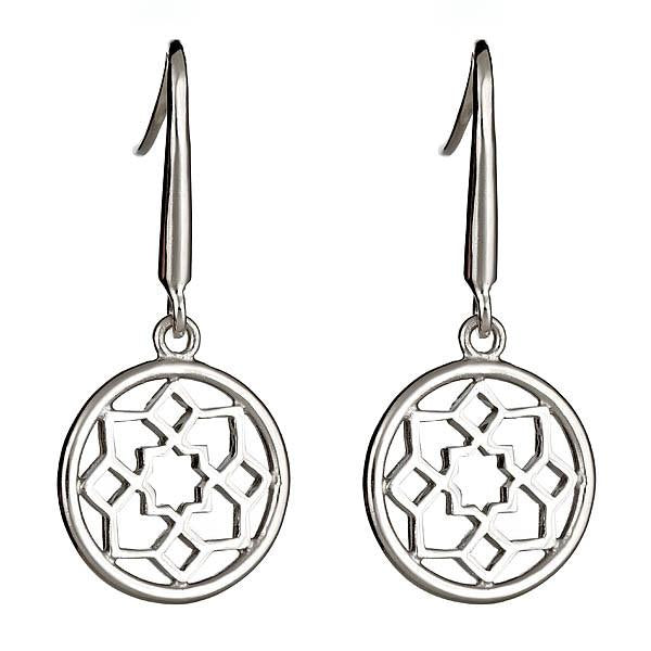 Sterling Silver Zellige Medallion Earrings