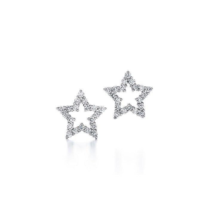 Sterling Silver CZ Star Earrings - Sterling Forever