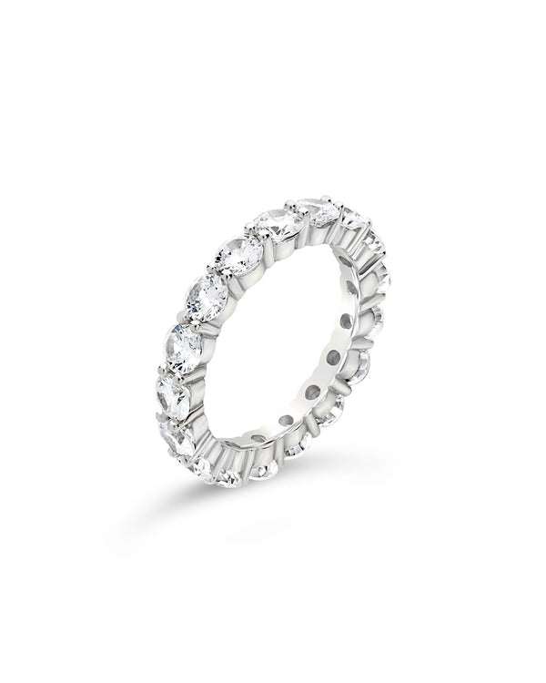 Sterling Silver CZ Eternity Band Ring - Sterling Forever
