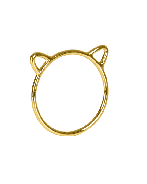 Sterling Silver Kitty Ear Ring